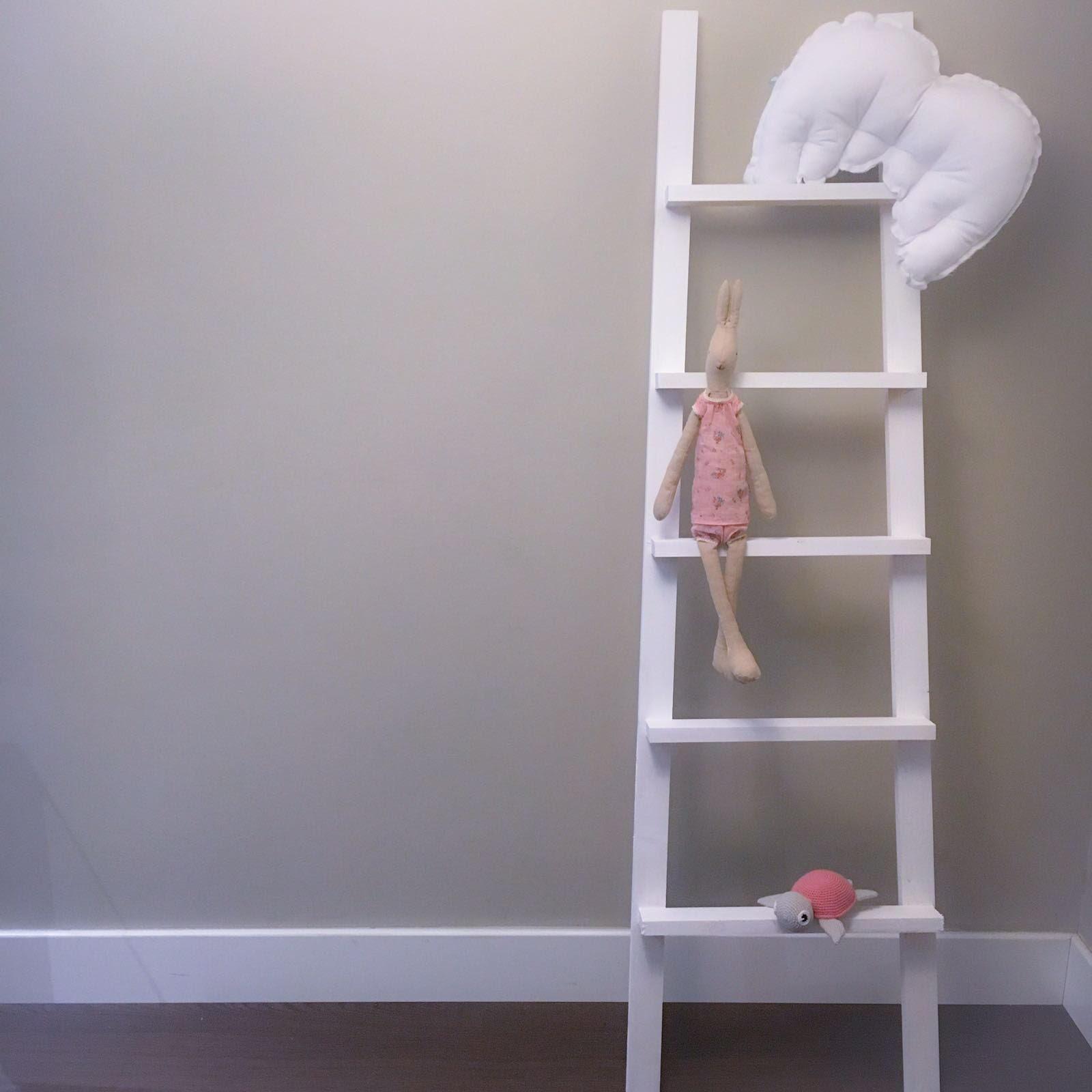 Escalera decorativa 5 pelda os blanca baby kids deco Escalera decorativa blanca