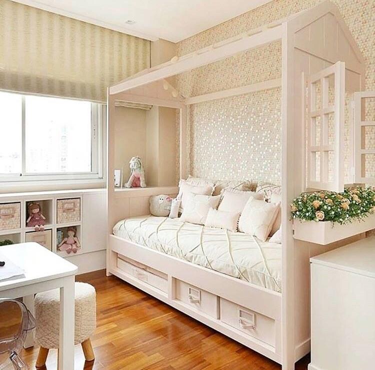 cama nido 90 con estructura casita baby kids deco