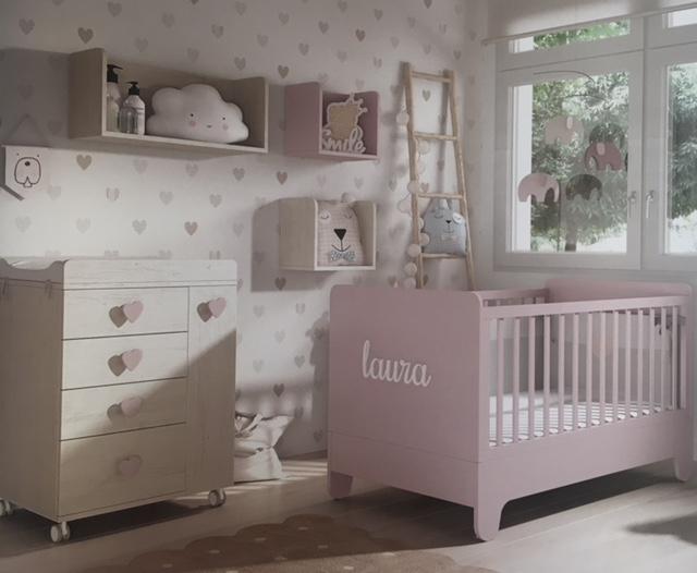 cuna Soft Wood Modelo 02 - Baby & Kids Deco