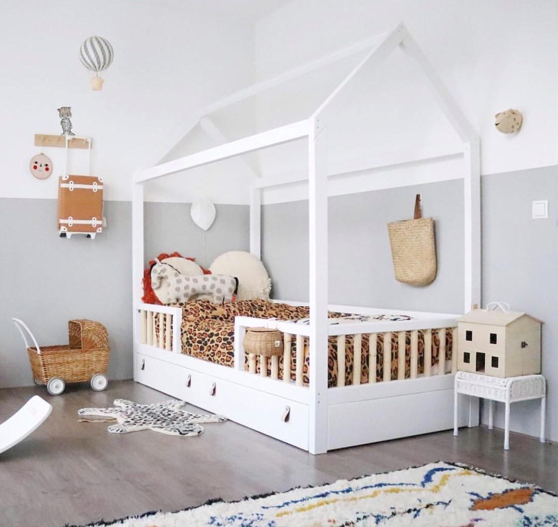 Cama montessori luna baby kids deco - Medidas de camas infantiles ...